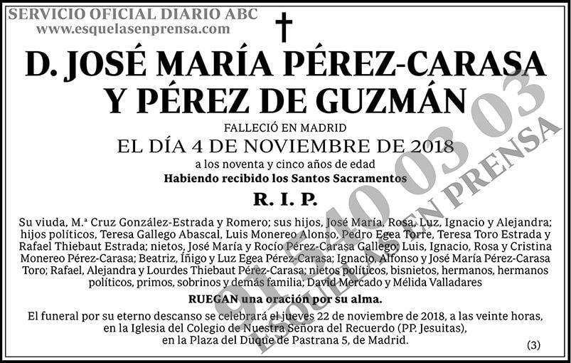 José María Pérez-Carasa y Pérez de Guzmán